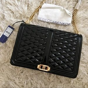 NWT Rebecca Minkoff jumbo love crossbody BLACK